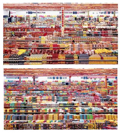 Andreas Gursky's, 99 Cent II Diptychon