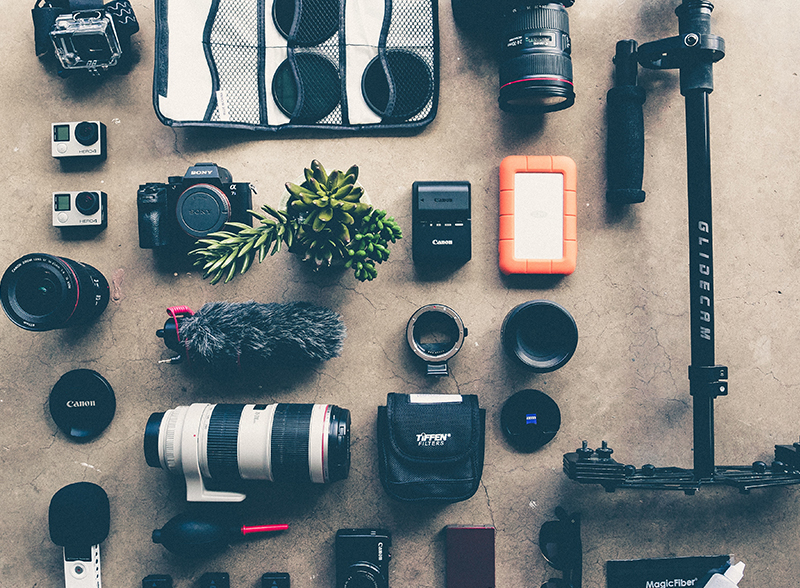 An array of lenses to get photography for beginners started