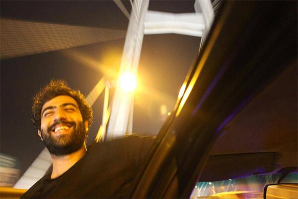 Photograph's subject enjoying himself on a joy ride