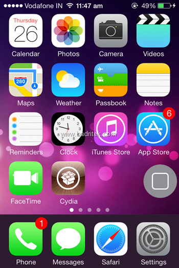 A typical iPhone menu screen