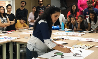 workshop-on-calligraphy-with-shipra-dutta