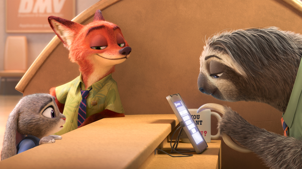 Characters from the animated film Zootopia