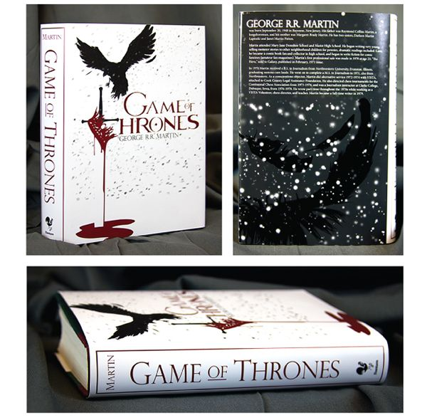 Game of Thrones book cover designed by Logan McGee