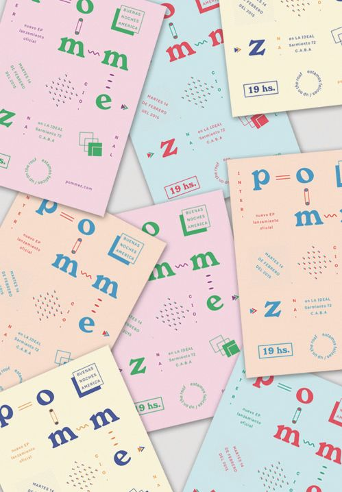 {Pastel colour graphics}|ABC's of Typography