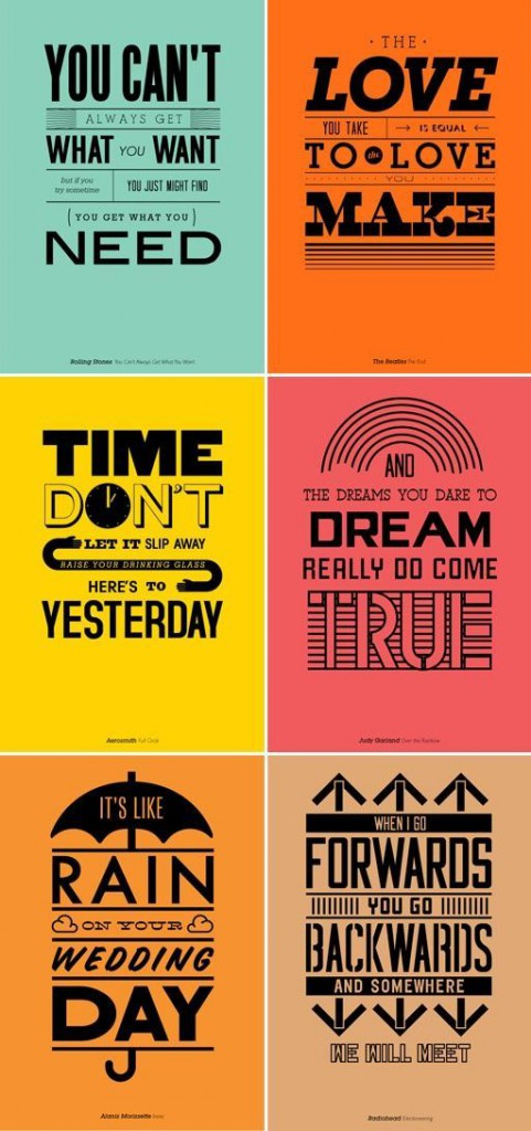 {Poster examples for typography}|ABC's of Typography