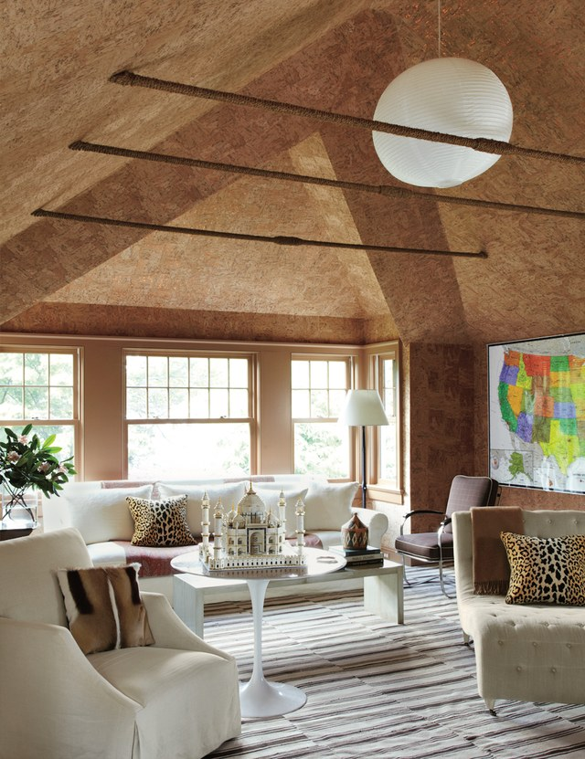Cork used as a sustainable material in home interiors {Interior Design|Sustainable Design}