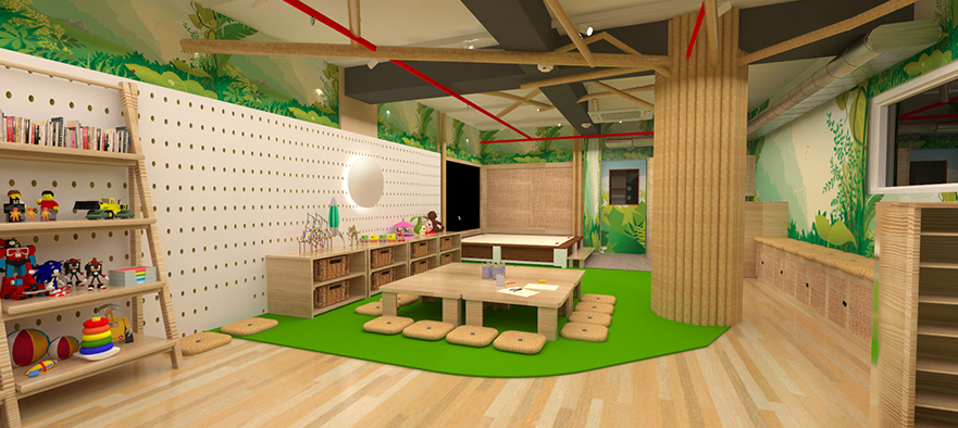 Redesigning a Children's Care Center - Interior Architecture and Design, Class of 2019