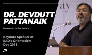 dr.-devdutt-pattanaik-at-iiad's-orientation-day-2018