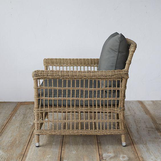 Trellis Weaver Wicker Chair