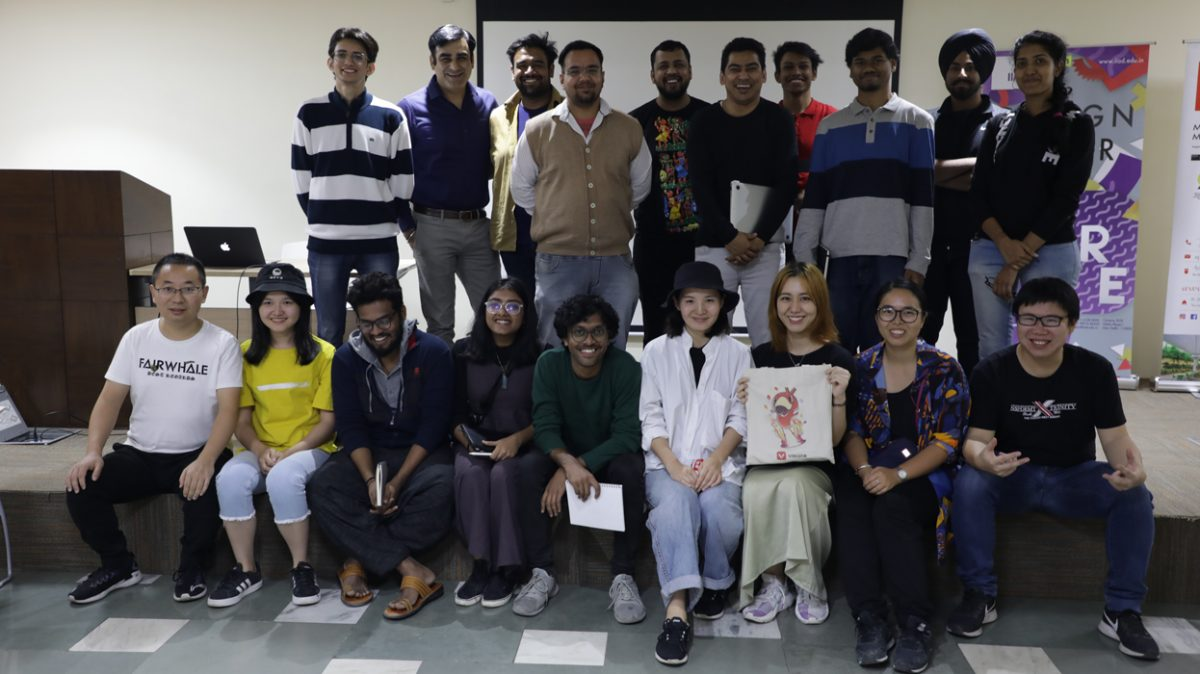 Design Team of VMate app, Ali Baba Group interacts with students at IIAD.