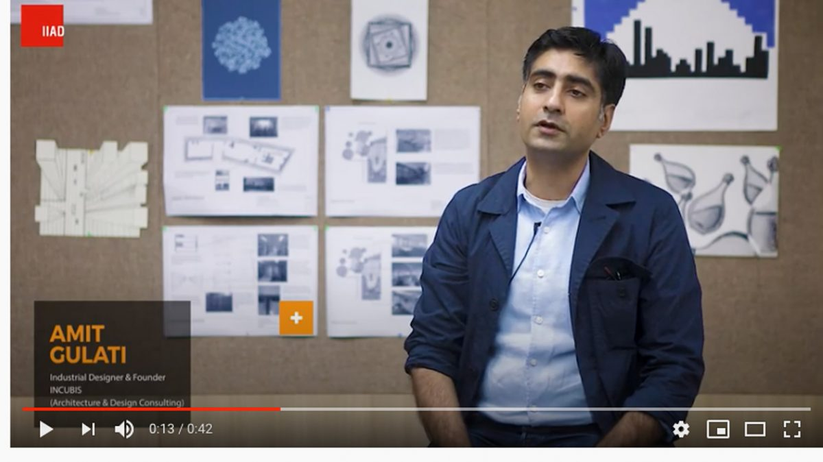 Amit Gulati, Founder of Incubis showcasing the Indian Design Map.