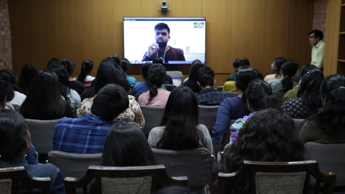 Co-founder of Elevar Sports, a Sportswear Brand, interacts with students at IIAD.