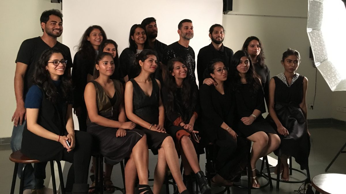 """Celebration of completion of the project 'Little Black Dress"""" with Piyush Suri."""