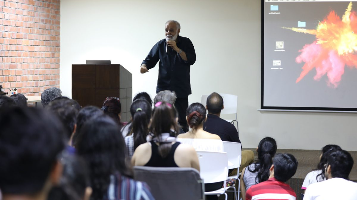 M.K. Raina (Theatre Personality) conducts a Masterclass at the IIAD Campus