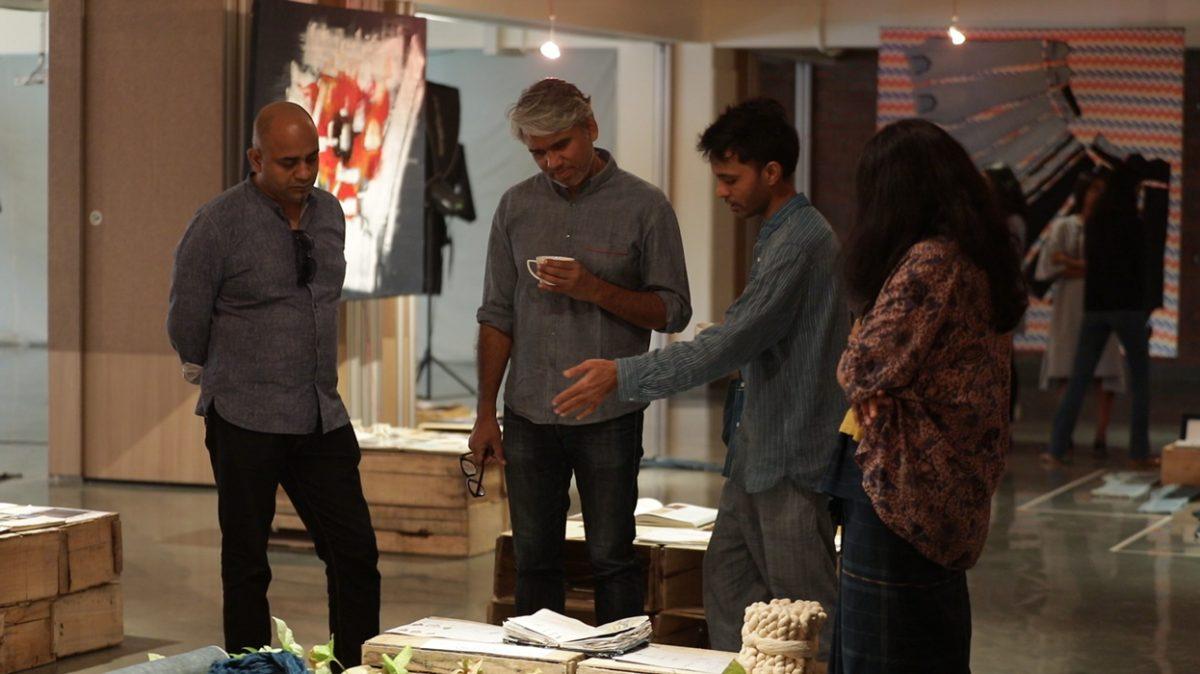 Rajesh Pratap Singh (Fashion Designer) visited IIAD Denim Exhibitions.