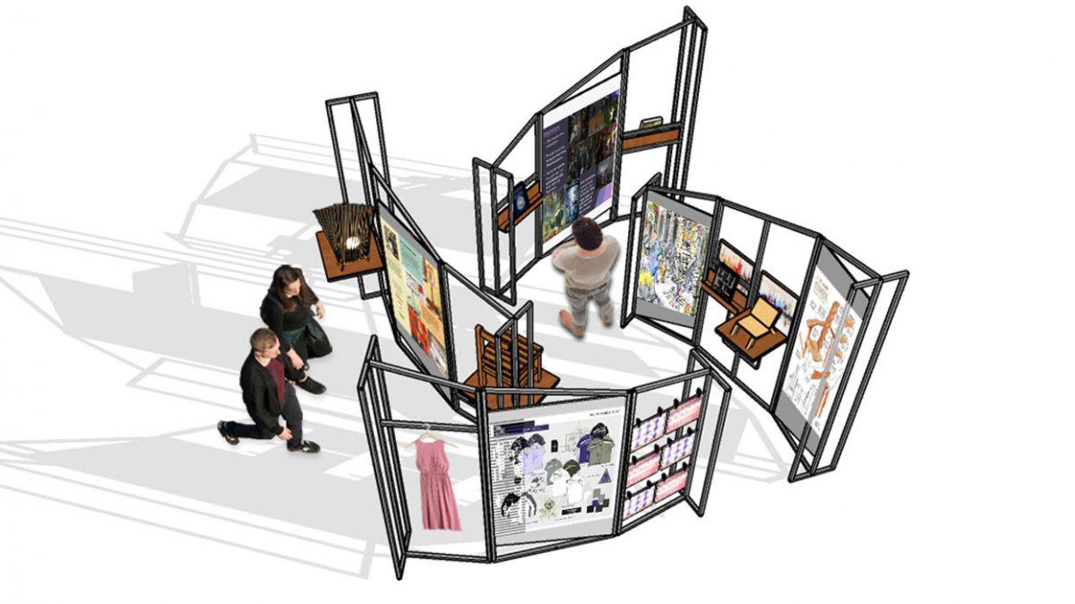 IIAD interior design student designs pop up store