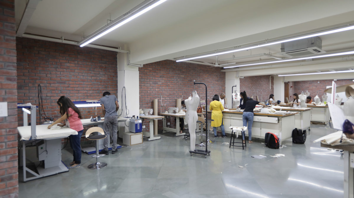 The Fashion Design studio provides students with spacious work stations and exhibition spaces.